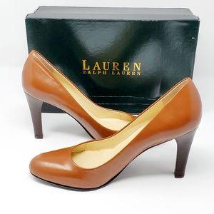 Lauren Ralph  Zamora Brown Classics Pumps Sz 8B